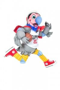Chuck the Condor takes flight. (copyright LA Clippers)